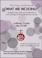"9th conference (May 2-6, 2011): Ludbreg, Croatia : ""What Are We Doing?"""